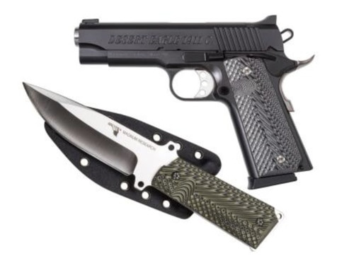 "Desert Eagle 1911C Pistol/Knife Combo, 45 ACP, 4.3"" Barrel, Knife & Sheath"