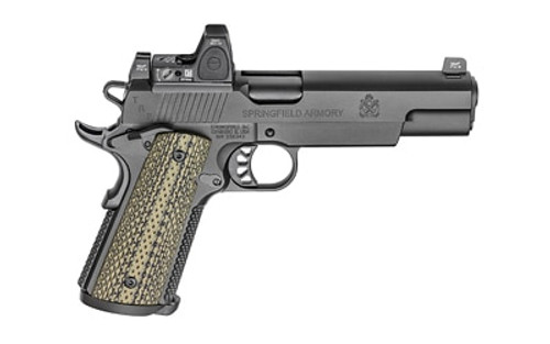 "Springfield 1911 TRP Operator 10mm, 5"" SS Barrel, RMR Sight, Olive G10, Black, 8rd"