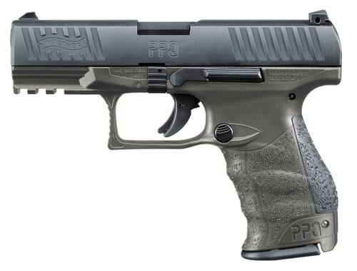 "Walther PPQ M2 Single/Double 9mm 4"" Barrel, Black Interchangeable Backstrap Grip Gray, 15rd"