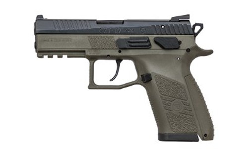 "CZ P-07 Full-Size Single/Double 9mm 3.75"" Barrel, OD Green Polymer Gri, 15rd"