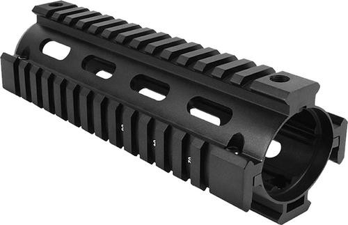 Aim Sports AR-15 Quad Rail Forend 2 Piece Aluminum Black