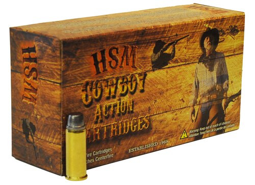 HSM Cowboy Action 45 Colt 200gr Round Nose Flat Point 50rd Box