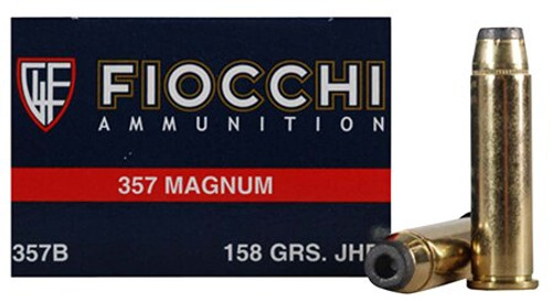 Fiocchi Shooting Dynamics 357 Magnum 158gr, Copper Metal Jacket Flat Point 50rd Box