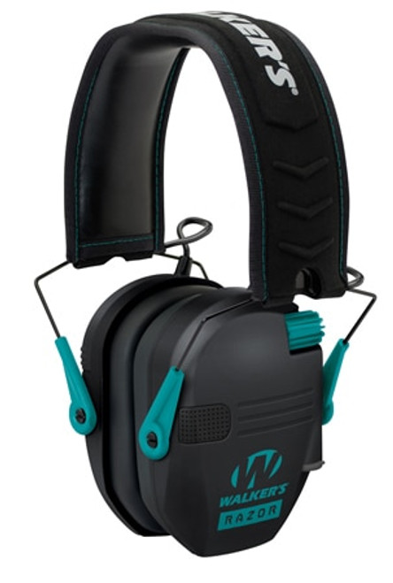 Walkers Game Ear Razor Slim Shooter Folding Earmuff 23 dB Teal/Black