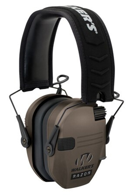Walkers Game Ear Razor Slim Shooter Folding Earmuff 23 dB Flat Dark