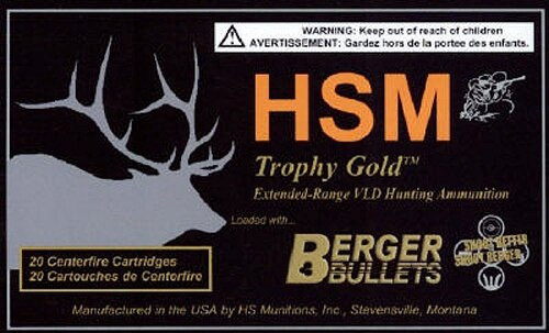 HSM Trophy Gold 7mm RUM 180gr BTHP 20 Bx/ 1 Cs
