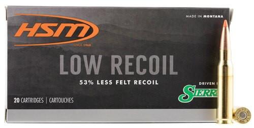 HSM Lowrecoil 308 Win/7.62mm 150gr, Ballistic Tip, 20rd Box