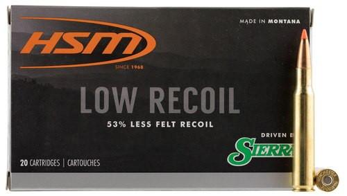 HSM Lowrecoil 30-06 Springfield 150gr, Ballistic Tip, 20rd Box