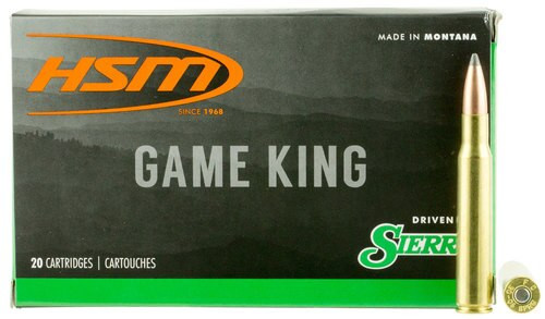 HSM Game King 30-06 Springfield 165gr, SBT 20 Bx/ 20 Cs