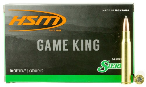 HSM Game King 25-06 Remington 117gr, SBT 20 Bx/ 20 Cs
