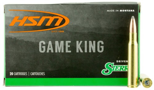 HSM Game King 308 Win/7.62mm 180gr, SBT, 20rd Box