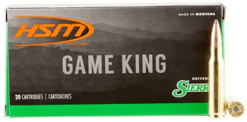 HSM Game King 308 Win/7.62mm 150gr, SBT, 20rd Box