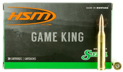 HSM Game King 25-06 Remington 100gr, SBT 20 Bx/ 20 Cs