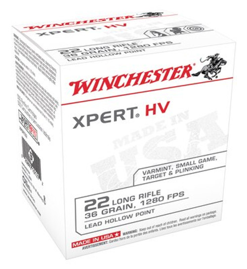 Winchester XPert 22LR 36gr, Lead Hollow Point, 500rd/Box