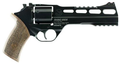 """Chiappa Firearms Rhino 60DS Single/Double 9mm 6"""" 6 Walnut Black"""