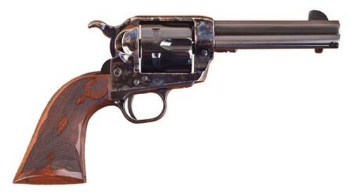 "Cimarron Firearms Eliminator-8 .357/.38 Special 4.75"" Barrel Standard Blue Finish Case Hardened Pre-War Frame Walnut Checkered Army Grip"