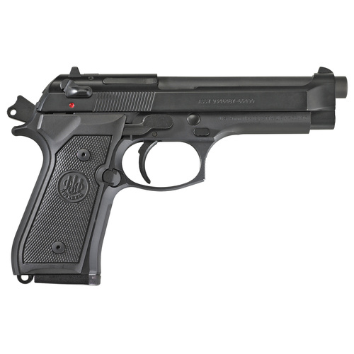 "BERETTA M9 9MM, CA Legal, 4.9"" Barrel; Blue Finish, Ambi safety, 10RD Mag"