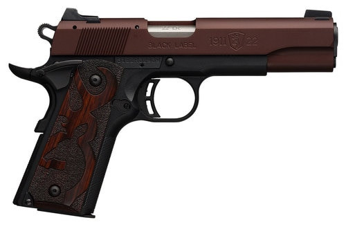 "Browning 1911 22Lr, Black/Blued, 4.25"", Bronze"