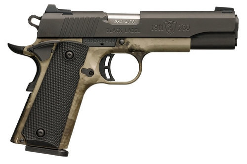 "Browning 1911 380ACP, Black/Blued, Pro Spd, 4.25"", Black"