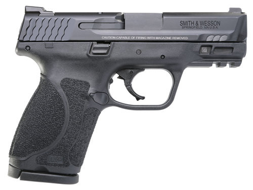 "Smith & Wesson, M&P 2.0, Striker Fired, Compact 9MM, 3.6"" Barr Black, 15Rd, 2 Mags, Fixed Sights"