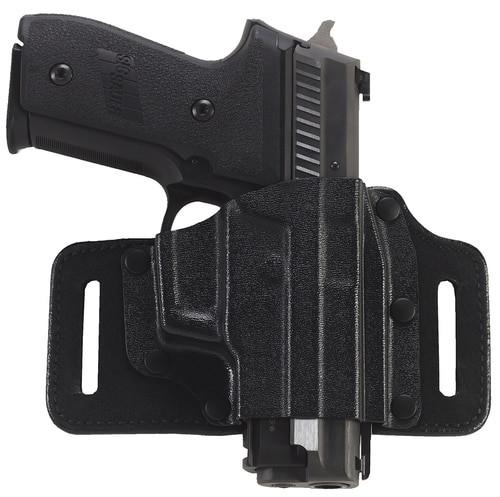 Galco Tacslide Belt Holster, Fits HK HK45, HK45C, P30, USP 45, USP 9/40, USP Compact 45, USP Compact 9/40, VP9/40, VP9SK, Right Hand, Black Leather/Kydex