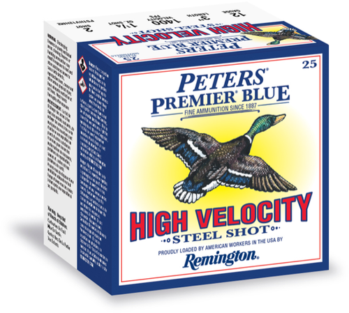 "Peters Premier Blue High Velocity Steel 12g 3"" Sheels BB 25rd/Box"