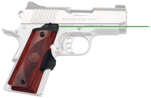 Crimson Trace Master Series 1911, Compact Rosewood, Green