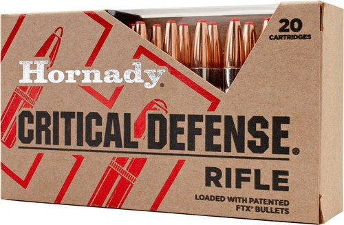Hornady Critical Defense .223 Rem 55gr FTX bullet 20rd Box