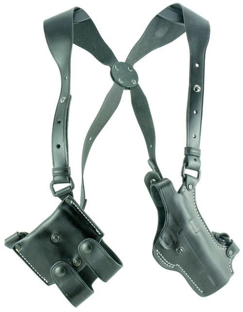 """El Paso Saddlery Spyder Shoulder System 1911 4"""" Barrel Leather Black"""