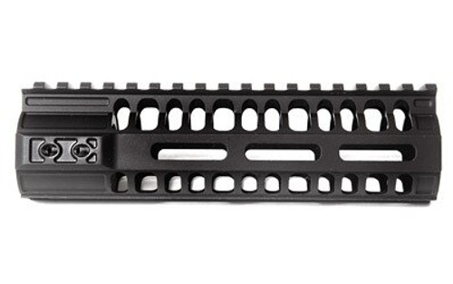 "2A Armament BL-RAIL M-LOK, Freefloat Handguard, Hardcoat Black Anodized, 6AL-4V Titanium Barrel Nut, 6061 Extrusion, AR Rifles, 7"""