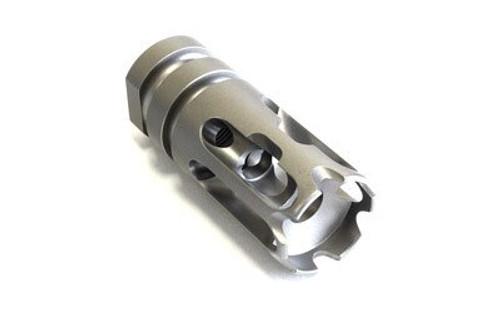"""2A Armament T3, Compensator, 6AL-4V Titanium, Bead Blasted, 1/2 X 28 TPI, 223 Rem, 5.56mm, 2.115"""""""