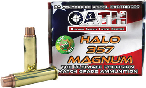 Oath Halo .357 Mag, 123 Gr, FMJ, Copper, 20rd/Box
