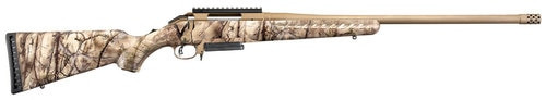"Ruger American 6.5mm Creedmoor 22"" Threaded Barrel Bronze Finish Composite Go Wild I-M Brush Camo 3rd"