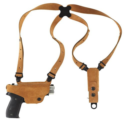 Galco Classic Lite Shoulder System Glock 17/19/22/23/26/27/31/32/33/34/35/36, Natural, RH