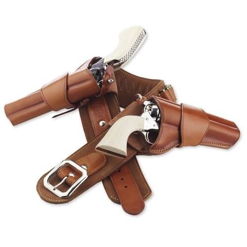 "Galco 1880 Cartridge Belt 38"" 44/45, Tan"