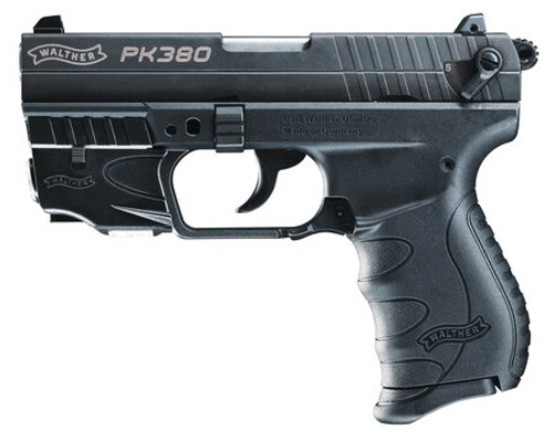 """Walther PK380 .380 ACP, Laser 3.7"""" Barrel 8 Round, 1 Mag, Used"""