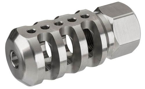 "Accu-Tac Tank II Muzzle Brake 223 Remington/5.56 NATO 2.2"" L 1/2x28 tpi Steel Stainless Steel"