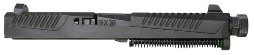 Adams Arms VDI Slide Assembly Brawler 9mm Glock 17/C/L/22/C/24/C/31/34/35/37, Gen 4 Requires Adapter, SS Black Melonite/PVD