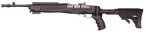 Advanced Technology Ruger Mini-14/Mini-30 Strikeforce Six Position Side Folding Stock With Scorpion Buttpad And Recoil Pistol Grip Black