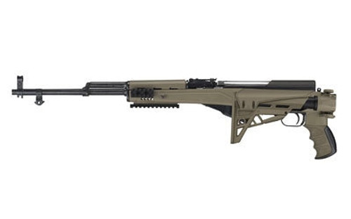 Advanced Technology Strikeforce TactLite, Stock, Fits SKS, Adjustable Side Folding Stock with Scorpion Recoil System, Flat Dark Earth