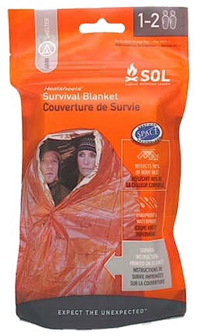 Adventure Medical Kits SOL Survival Blanket Blanket Orange/Silver