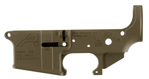 AERO Stripped Lower, Gen 2, Semi-automatic, 223 Rem/556NATO, Flat Dark Earth