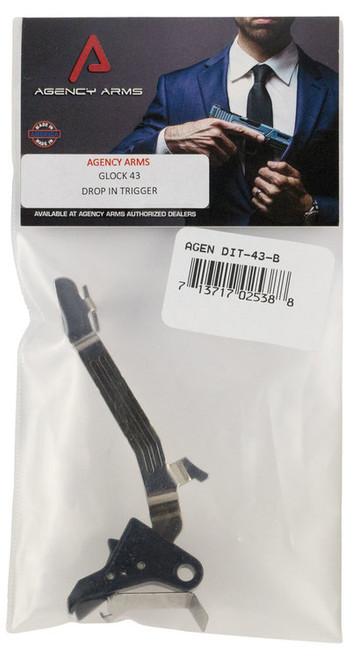 Agency Arms Drop-In Trigger Glock 43 9mm Aluminum Black 3.5lbs