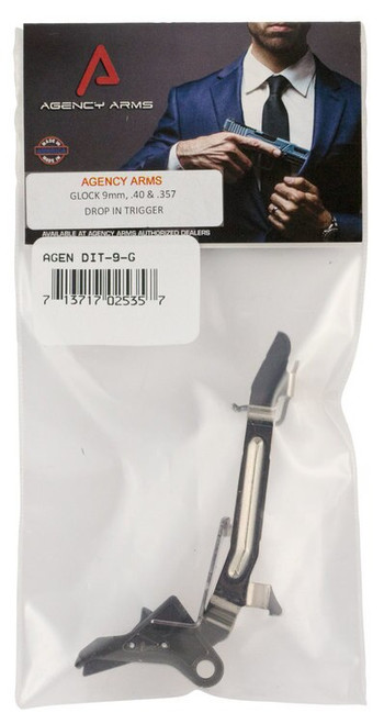 Agency Arms Drop-In Trigger Glock 9mm/40S&W/357Mag Aluminum Gray 3.5lbs