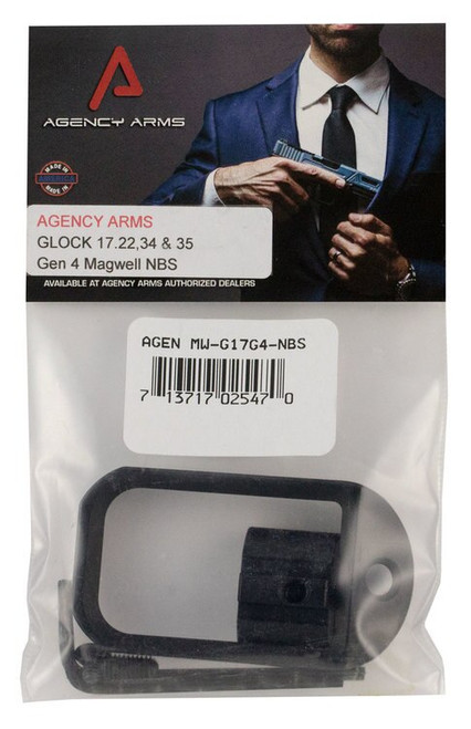 Agency Arms Magwell Compatible with Glock 17 Gen4 6061-T6 Alum