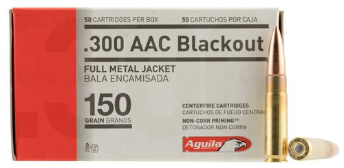 Aguila 300 AAC Blackout 150gr, Full Metal Jacket, 50rd Box