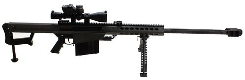 "Barrett 82A1 29"" Barrel, Monopod, Leupold Scope, Barrett Ultra High Rings, BORS System"