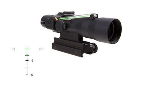 Trijicon 3x30 Compact ACOG Scope Dual Illuminated Green Crosshair 300BLK 115/220gr. Ballistic Reticle, Colt Knob Thumbscrew Mount