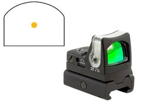 Trijicon RMR Dual Illuminated Sight -7.0 MOA Amber Dot, RM34W Mount
