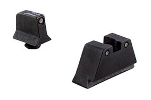 Trijicon Bright & Tough Night Sight Suppressor Set Black front/Black rear with Green Lamps Glock Models 20 21 29 30 and 41 (including S and SF variants)